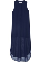 Dagmar Fol Silk Chiffon Midi Dress