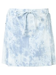 Thakoon Denim Mini Skirt Blue