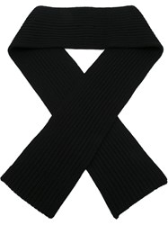 Neil Barrett Ribbed Scarf Black