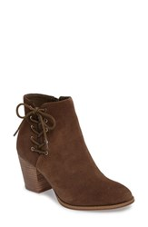 Jessica Simpson Women's Yesha Lace Up Bootie Moss Brown Suede