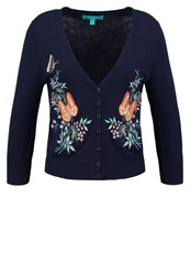 Fever London Margate Cheyenne Cardigan Navy Cream Dark Blue