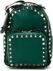 Valentino Garavani Small 'Rockstud' Backpack Green