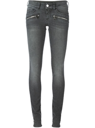 Barbara Bui Washed Zip Detail Jeans