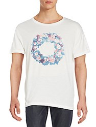Gant Floral Wreath Graphic Tee Bianco