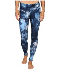 Lucy Studio Hatha Legging Blue Glacier Print 1 Women's Workout