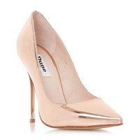 Dune Aimey Stiletto Pointed Toe Courts Rose Gold