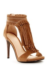 Chinese Laundry Santa Fe Fringe Stiletto Sandal Brown
