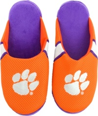 Forever Collectibles Clemson Tigers Jersey Slippers Orange