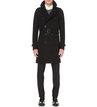 Burberry The Sandringham Cotton Twill Trench Coat Black
