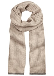Johnstons Of Elgin Sand Cashmere Scarf Beige