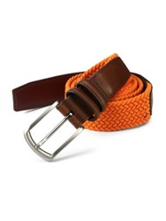 Saks Fifth Avenue Braided Belt Khaki Orange Navy Black