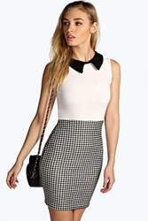 Boohoo Collared Bodycon Dress Multi