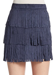 Romeo And Juliet Couture Tiered Fringe Miniskirt