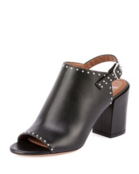 Studded Leather Slingback Mule Black Givenchy