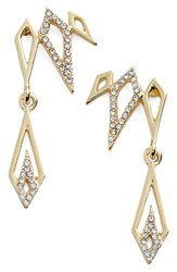 Jules Smith Designs Women's Jules Smith Pave Drop Ear Crawlers