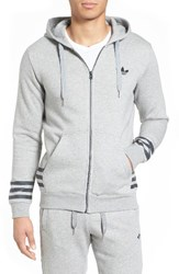 Adidas Men's Originals Street Graphic Zip Hoodie Medium Grey Heather