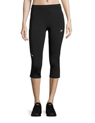 New Balance Fitted Athletic Capri Pants Black
