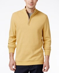 Tasso Elba Men's Honeycomb Textured Quarter Zip Sweater Only At Macy's Honey Heather
