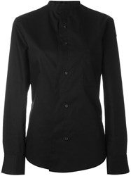 Y's Mandarin Collar Shirt Black