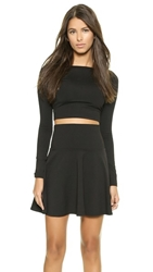 Susana Monaco Scoop Back Crop Top Black