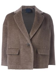 Aspesi One Button Cropped Jacket Nude Neutrals