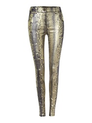 Biba Metallic Snake Jeans Multi Coloured