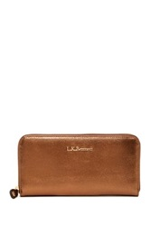 Lk Bennett Kenza Leather Long Zip Wallet Brown