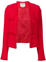 L'agence Ruffled Blazer Red