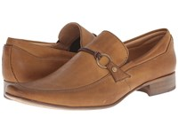 Massimo Matteo Mocc With Woven Lace Tan Men's Slip On Dress Shoes