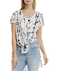 Vince Camuto Two By Abstract Print High Low Tee New Ivory