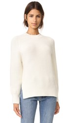 3.1 Phillip Lim Saddle Crew Neck Pullover Antique White