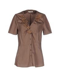 Annarita N. Shirts Shirts Women Brown