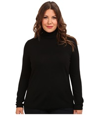 Pendleton Plus Size Classic Turtleneck Sweater Black Women's Long Sleeve Pullover