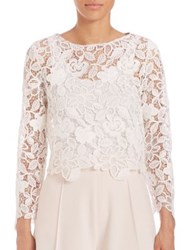 Abs By Allen Schwartz Embellished Lace Blouse Ivory