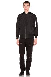 Strapped Bomber Jacket Black