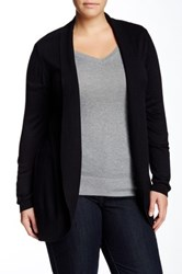 Olivia Sky Long Cocoon Cardigan Plus Size Black