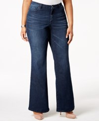 Harper And Liv Plus Size Flared Jeans Dark Rinse Wash
