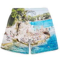Vilebrequin Moorea Mid Length Slim Fit Printed Swim Shorts Blue