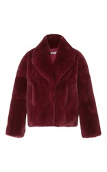 Cacharel Fur Coat Red
