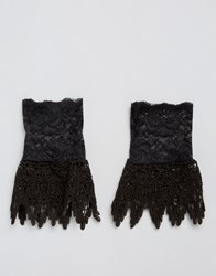 Asos Lace Cuffs Black