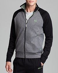 Hugo Boss Boss Green Skoz Track Jacket Grey Melange