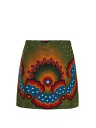 Valentino Enchanted Wonderland Mini Skirt Green Multi