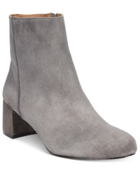 Adrienne Vittadini Lousia Suede Booties Women's Shoes Grey
