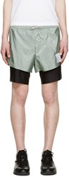 Satisfy Green And Black Long Distance 8' Shorts