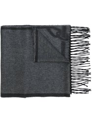 Brioni Fringed Scarf Grey