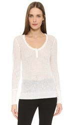 3.1 Phillip Lim Scoop Neck Henley Ivory