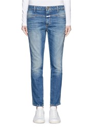 Closed 'Cropped Worker' Heavy Wash Denim Pants Blue
