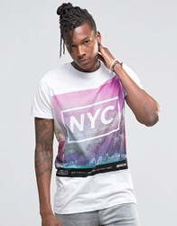 Pull And Bear Pullandbear T Shirt With Nyc Print In White White