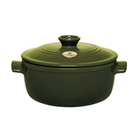 Emile Henry Round Stewpot Olive 4L
