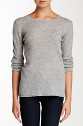 Philosophy Cashmere Classic Crew Neck Cashmere Sweater Gray